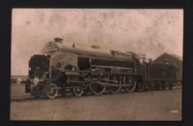 RP very old postcard Railway locomotive #254